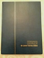 Linder 8 Leaf 16 Page Stock Book with Hundreds of Worldwide Stamps