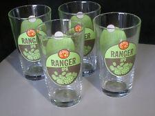 4 Ranger IPA Beer Glasses Pub pint stemware New Belgium 16 oz. Fat Tire Man Cave