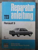 original REPARATURANLEITUNG RENAULT 9 BUCHELI 723 OLDTIMER AB 1981
