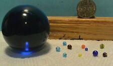 Worlds Tiniest Marbles (10), All Handmade,Sunglass Studio ,1.8mm  to 4mm