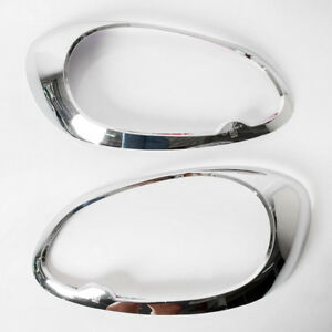 Chrome Cover Headlight Trims Fit Nissan Micra K13 March 2012-2014