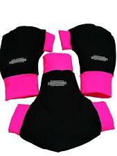 Ruderhandschuhe pink/schwarz mit Aufdruck, Rudern, Rowing, Poggies Set