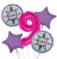 New LOL Surprise! 9TH Nine Birthday Party Favor Supplies Balloon Bouquet 5pc