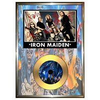 Iron Maiden - Signed Framed Vinyl Cd Photo Display