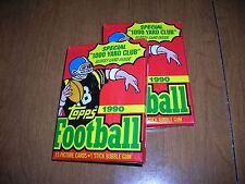 1990 Topps Football cards, lot of 2 unopened packs, excellent condition