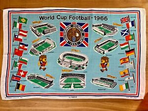 Collectors Tea Towels 1966 World Cup rare