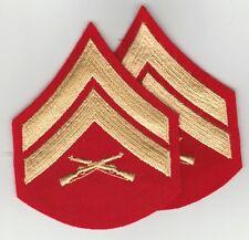 USMC Corporal pair men's dress uniform unworn gold/scarlet Marines