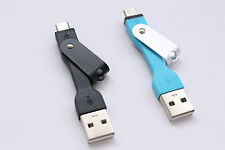 Corta Cable Micro Usb Cargador Silicon Llavero Sincronización De Datos Adaptador Android Htc