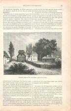 Hammarby Maison de Campagne de Linné à Uppsala  Upsal Danemark  GRAVURE 1888