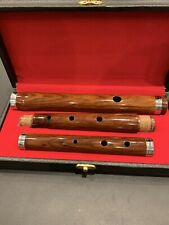 "Hand Made Sheesham Wood Irish D Flute with Hard Case, Size 23"" Long in 3 Parts"