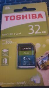 Toshiba ® 32gb SDHC ™ UHS-I Highspeed n203 Speicherkarte Class 10 100mb/s