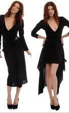 new RRP $460  FOLEY + CORINNA BLACK WOOL BLEND KNIT DRESS L