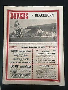 1953/4 DONCASTER ROVERS V BLACKBURN ROVERS