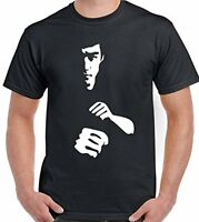 Bruce Lee Silhouette Martial Arts Mens T-Shirt Enter The Dragon MMA UFC Gym Top