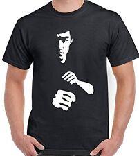 Bruce Lee Silhouette Martial Arts Mens T-Shirt Enter The Dragon MMA UFC Gym Top