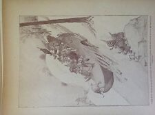 m17a5 ephemera book plate 1920s h c sandy the boys in their old sabot sled
