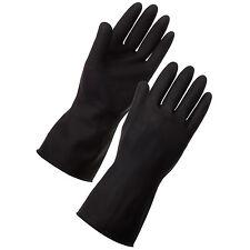 12 paires Heavyduty ménage INDUSTRIEL jardinage caoutchouc noir Gants en latex