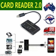 3 in 1 USB Camera Connection Kit SD Card Reader Adaptor For Samsung HTC Android