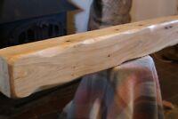 Floating Oak Mantle Beam Fireplace Mantel Oak Mantelpiece Wooden Beam & Fittings