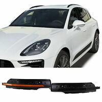 Dynamische LED Spiegel Blinker Schwarz Smoke für Porsche Macan 95B 14-17