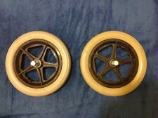 Pair of Invacare Action 2 Ng Wheelchair Rear Wheels & Solid Tyres  - Parts