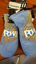 Pow Gloves blue Mitt Black 2013 snowboard ski mitts glove taglia L