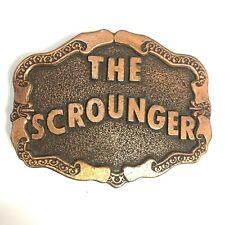 """Vintage """"The Scrounger"""" Belt Buckle Copper The Great Escape James Garner Hendley"""