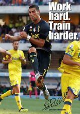 Ronaldo Juventus Poster Motivational #12 Signed (Copy) - A3 - 420mm x 297mm NEW