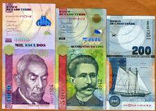 SET Cape Verde, Africa, 200;500;1000 Escudos, 2005-2007, Picks 68-69-70, UNC
