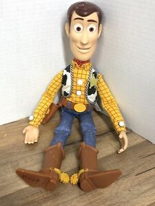 1995 Disney Pixar Toy Story Pull String Talking Woody Thinkway Toys WORKS NO HAT