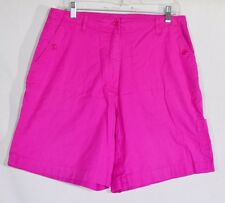AW GOLD BY ALLISON WHITMORE Hot Pink Shorts 12 3 Pockets Stretch Cotton