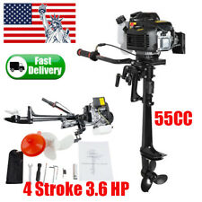 Pro New 4 Stroke 3.6 HP Outboard Motor 55CC Boat Engine With Air Cooling System