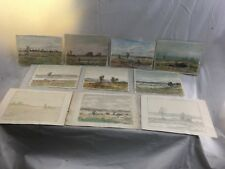 (10) Orig. Horace Robbins Burdick New England Landscape Watercolor Paintings