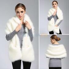 Hot sale Winter warm Women Rabbit Fur Coat Fox Fur Shawl Stole Wrap Shrug Scarf
