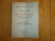 catalogue des sculptures de 1933, notice, première et deuxième partie (10)