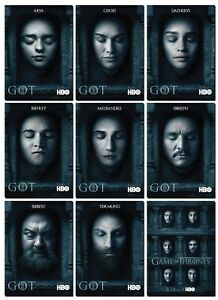 GAME OF THRONES Season 6 HALL OF FACES - 9 Card Promo Set - GoT Daenerys Sansa