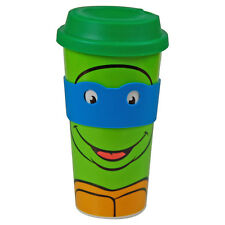 Teenage Mutant Ninja Turtles Leonardo Travel Mug. TMNT Cartoon Gift for Him