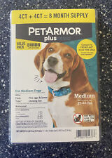 Pet Armor Plus Flea & Tick Prevention For Medium Dog 23-44lbs Treatments 8 Doses