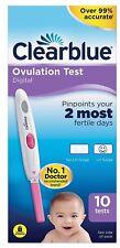 10 Clearblue Digital Ovulation - Fertility Test Sticks New & Sealed