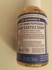 Dr. Bronner's 18-in-1 Hemp Peppermint Pure-Castile Soap. Organic 2 FL OZ/59 mL