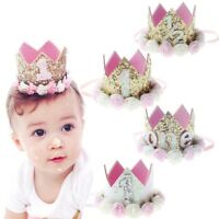 Newborn Baby Headband Princess Crown Flower 1st Birthday Party Tiara Hair Decor