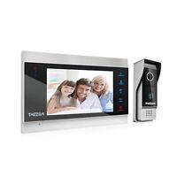 """4-Draht Video Türsprechanlage Gegensprechanlage mit 7"""" LCD Monitor 1-Familie"""