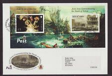 Isle of Man 2005 FDC - The Death of Nelson - Joint Issue   - with m/sheet