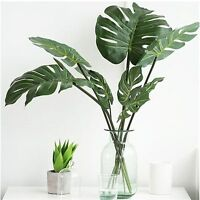 Artificial Monstera Branch Tree Spray Fake Turtle Leaves Plant Faux Foliage Leaf