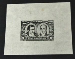 nystamps Argentina Stamp Mint Proof   G6y012