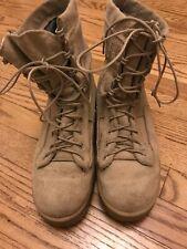 WELLCO MEN'S HOT WEATHER DESERT TAN ARMY COMBAT BOOTS VIBRAM Size 6.5 R