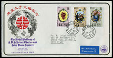 Hong Kong 1981' The Royal Wedding Reg., CPA FDC to Italy with Arrival Cds