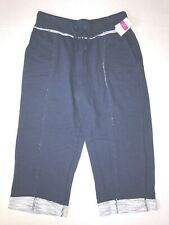 FRESH PRODUCE Large Moonlight Blue SUNSET French Terry Pocket Capris $69 NWT L