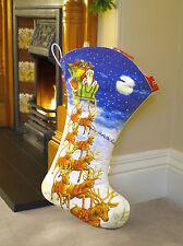 Large Handmade Santa's Sleigh Christmas Stocking