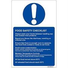 Food Safety Checklist vinyl Sticker Sign for Kitchens (13x20cm) Kitchen Hygiene